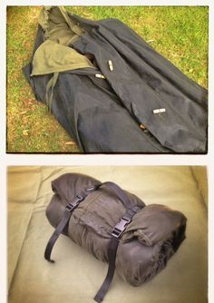 """Waxed Canvas Bivvy Bag: Made of all-natural materials, cotton canvas, beeswax and wooden toggles, our """"Recon"""" Bivvy Bag is a great robust and natural alternative to a goretex or other man made fibre bivvy bag. http://www.wynnchester.co.uk/campgear/waxed-canvas-bivvy-bag/"""