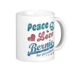 Vintage Peace Love Bernie Classic Mug