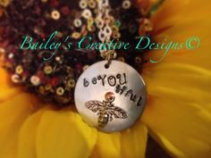 Lovely Hand Stamped beYoutiful Necklace