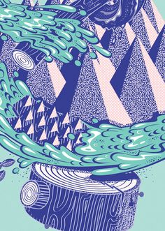Woodhead / Headliner Magazine Issue #17 Cover & Poster by Vicente García Morillo , via Behance