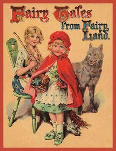 O Lobo Leitor: Capas de livros de contos de fadas de 1920