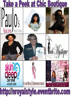 Join us for CHIC BOUTIQUE event - Sat Nov 2, 12:30-4 (Vendor Fair); 4-5:30p.m. Vendor Awards with dinner & fashion show check http://nroyalstyle.eventbrite.com in Catonsville  Our 10th anniversary- is our Grand finale, enjoy the celebration, ChicBoutique at 10 St Timothys Ln Balto Co #DMV #Baltimore