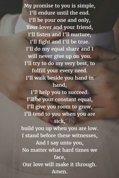 Wedding poems - 22 Examples About How to Write Personalized Wedding Vows Romantic Love Quotes, Love Quotes For Him, Love Poems For Husband, I Love My Hubby, Change Quotes, To My Future Husband, Wedding Vows To Husband, Wedding Vows That Make You Cry, Wedding Poems