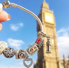Personalized Photo Charms Compatible with Pandora Bracelets. Pandora