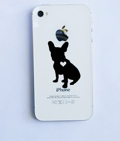 Frenchie Love iPhone decal by BullyPaws on Etsy, $6.00 @brittney anderson