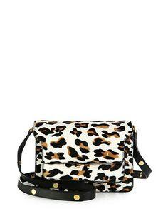 MARNI Calf Hair Triple Gusset Shoulder Bag