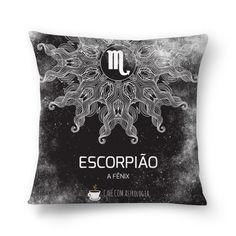 Escorpião | A Fênix #almofada #pillows #astrology #astrologia #zodiac #zodíaco #art #signos #decor #decoração #mandala #escorpião #scorpio