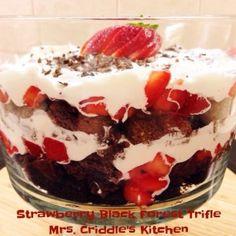 Strawberry Black Forest Trifle - Trim Healthy Mama S Dessert- Mrs. Criddles Kitchen