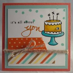 Stampin up endless birthday wishes mini 3x3 card by Gloria Kremer, Oakville demo. Girlfriend Originals on Facebook.