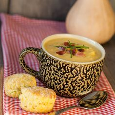 Vanilla Butternut Squash Bisque - the hint of vanilla makes this taste sooo good!  Highly recommend!