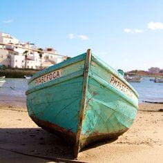 I found this awesome colored little boat in Ferragudo, Algarve, Portugal. The quality of the wood is terrible, but the turquoise paint makes you smile.