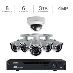 Lorex 8 Channel Ready NVR Security System with 6 Cameras and Color Night Vision.Lorex 8 Channel Ready NVR Security System with 6 Cameras and Color Night Vision. we suggest you take a look at the top-rated safety cameras for all categories. Security Surveillance, Surveillance System, Bullet Camera, Camera Lens, Video Security, Remote Viewing, Camera World, Security Camera System, Camera Reviews