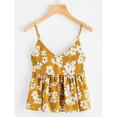To find out about the Floral Print Random Babydoll Cami Top at SHEIN, part of our latest Tank Tops & Camis ready to shop online today! Cami Tops, Cami Crop Top, Crop Tank, Tops Débardeurs, Floral Tops, Floral Prints, Fashion News, Fashion Outfits, Womens Fashion