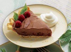 Tarte à la crème au chocolat et aux framboises recette   Plaisirs laitiers