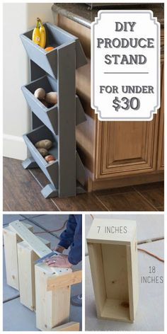 DIY Kitchen Produce Stand For Under $30