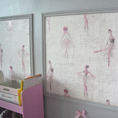Papier peint ballerine pour chambre de fille