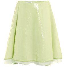 Diane Von Furstenberg Adella embellished skirt ($250) ❤ liked on Polyvore