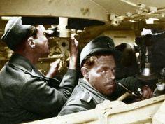 An amazing photo- Inside a German tank.