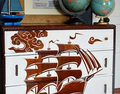 Seriously awesome dresser makeover