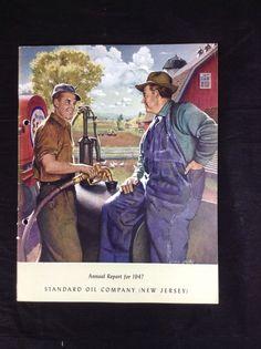 1947 Esso Standard Oil Company New Jersey Annual Stock Report