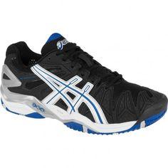 b0a22f9aafe5 Asics GEL-Resolution 5 Mens Tennis Shoes E300Y.9001 Black-White-Blue