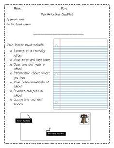 Pen Pals Checklist