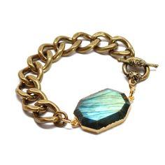 Labradorite Chain Bracelet