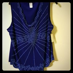 NWT beautiful blouse NWT beautiful with lots of detail Dress up or down MSK Tops Blouses