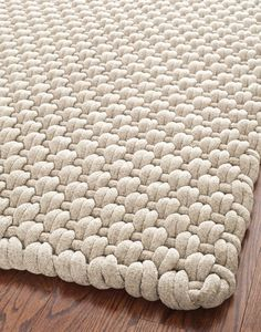 Safavieh Hand-woven Manhattan Beige Wool Rug x Size x Wool Yarn, Wool Rug, Tapete Beige, Beige Rugs, Tapetes Diy, Crochet Rug Patterns, Crochet Rugs, Knitted Rug, Boutique Deco