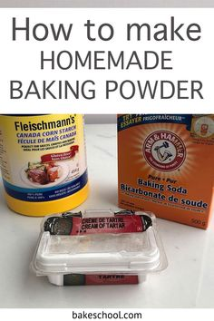 Are you wondering what baking powder does to cakes and cookies? Find out everything you need to know about this essential ingredient in baking. What baking powder is, how it's different from baking soda, the difference between single-acting and double-acting baking powder, how much baking powder you have to use when baking, does baking powder expire and how to check if it's still good, and even how to make homemade baking powder if you find you've run out. Make Baking Powder, Homemade Baking Powder, Baking Powder Recipe, Baking Hacks, Baking Tips, Baking Recipes, What Is Baking, Baking Science, Cooking