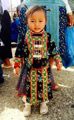 Little Hmong Girl at Pa Co market in Mai Chau, North Vietnam http://hauteculturefashion.com/