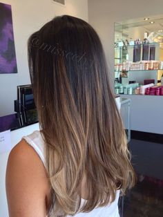 Balayage soft ombre, sombre, hair- color on bottom Balayage Brunette, Brunette Hair, Soft Balayage, Dark Sombre, Dark Brunette, Bayalage, Balayage Highlights, Brunette Ombre Balayage, Brown Hair Balayage