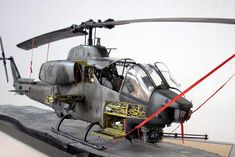 Bell AH-1 Super Cobra NTS, ACADEMY 1/35 scale. By Andreas Greim. US Attack helicopter.  #helicopter #chopper #scale_model