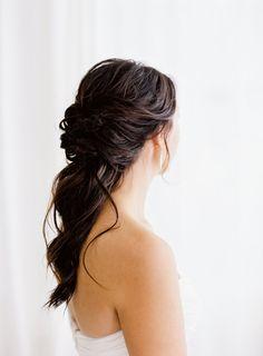 Romantic half up half down hairstyle: http://www.stylemepretty.com/little-black-book-blog/2017/02/16/romantic-baltimore-wedding-turkish-rug/ Photography: Michael and Carina - http://www.michaelandcarina.com/
