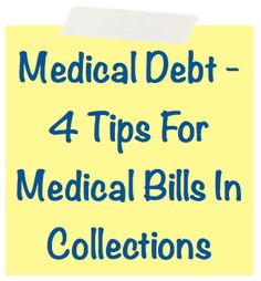 Medical Debt - 4 Tips For Medical Bills In Collections . Find out why medical debt is on the rise and in part because of Obamacare. Along with four key tips to navigate the dangerous world of medical debt collections. tips Improve Credit Score, How To Fix Credit, Build Credit, Credit Repair Companies, Rebuilding Credit, Medical Billing, Financial Tips, Financial Literacy, Budgeting Finances