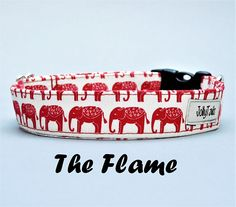 Hey, I found this really awesome Etsy listing at https://www.etsy.com/listing/537247201/boho-elephant-dog-collar-red-unisex-for