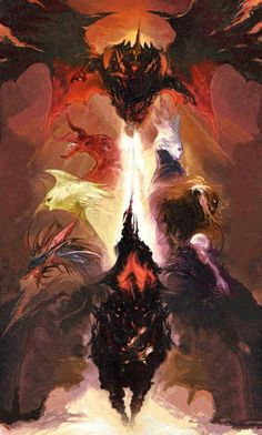 Final Fantasy XIV Primals Bahamut, Ifrit, Shiva, Garuda, Titan, Leviathan, Ramuh, Odin
