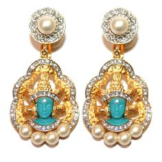 Garland Collects vintage Hattie Carnegie Vishnu Earrings