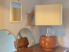 Superb Lampe de table en c ramique ann es Vintage