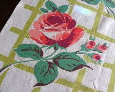 Vintage Tea Towels | Found on thepinkrosecottage.com