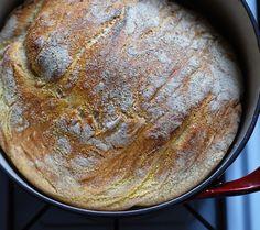 "crusty ""no-knead"" dutch oven bread"