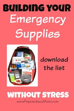 Part of today's PrepareAThon presentation. Be sure and download the master emergency supplies list to help get prepared. Emergency Supplies without the stress | PreparednessMama