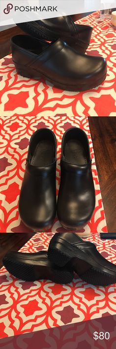 Dansko shoes Brand new, never work Dansko clogs. They are a European size 40, fits like a 9 and a half. I added non slip soles to them which were an additional 30 dollars. They are perfect for a nursing or serving job that requires non slip shoes. No box Dansko Shoes Mules & Clogs