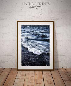 Sea Print-Ocean waves photography, ocean waves print, instant download, sea decor, sea foam print, sea wall decor, large poster print, ocean by NaturePrintsButique on Etsy