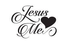 Jesus Loves Me Free SVG File