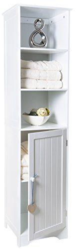 Crown Crest Tall boy Storage Cabinet White Wooden Cupboard Bathroom Unit Shelves Door 40x38x160cm (Barcode EAN = 5060463971519). http://www.comparestoreprices.co.uk/december-2016-3/crown-crest-tall-boy-storage-cabinet-white-wooden-cupboard-bathroom-unit-shelves-door.asp