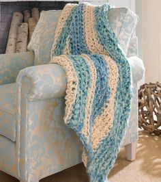 #Craft a cozy blanket for those breezy seaside nights. |Find yarn and supplies at Joann.com or visit Jo-Ann Fabic and Craft store near you.