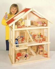 Classic Dollhouse - Blueberry Forest Toys. Thinking ahead for Christmas/3rd bday.