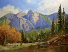 California Landscape Paintings, contemporary impressionist oil painting and watercolor landscapes including plein air by Karen Winters Impressionist Landscape, Watercolor Landscape, Landscape Paintings, Merced River, Paintings For Sale, Oil Paintings, Daily Painters, Bedroom Art, Master Bedroom