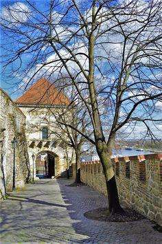 Inside grounds of Bratislava Castle, Slovakia